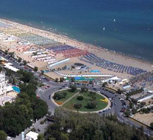 Panoramica dall'alto di Rimini Marina Centro