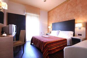 Dettaglio su camera del Park Hotel Serena a Viserbella